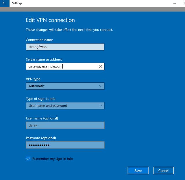 HQY 一个和谐有爱的空间-教程-使用StrongSwan IPsec VPN软件